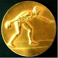 Medaille / Plakette  Kegeln  -  Vereinspokalsieger 1987  -  Ca. 45 Mm Durchmesser  -  Im Etui - Sport