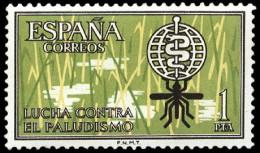 ESPAÑA SEGUNDO CENTENARIO NUEVO Nº 1479 ** 1P AMARILLO Y VERDOSO ANTIMALARIA - 1961-70 Neufs