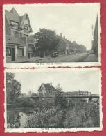 Pecq - 2 Cartes Postales - Rue De Courtrai Et Pont Sur L'Escaut ( Voir Verso ) - Pecq