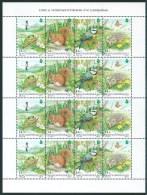 3588 Hungary 1995 Fauna Animal Mammal Bird Amphibian Full Sheet MNH - Altri