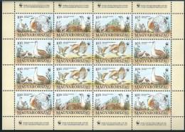 3602 Hungary 1994 Fauna Animal Bird Bustard WWF Full Sheet MNH - W.W.F.