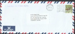 Hong Kong Airmail 2006 Bird Greater Painted Snipe $2.40 Sent To Pakistan. - Covers & Documents