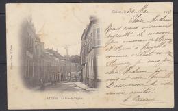 """Guines """"La Rue De L'Eglise"""" Carte Postale De 1903 (21895) - Guines"""