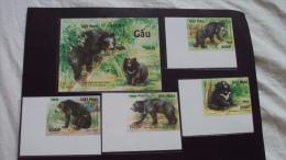 Vietnam Viet Nam MNH Imperf Stamps And Souvenir Sheet 2012 : Bear (Ms1018) - Vietnam