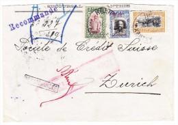 Bulgarien - 1915 R-Brief  Von Xanthy (Besetzung In Griechenland) Nach Zürich Mit Zensur, Transit Und Ankunfts Stempel - 1909-45 Kingdom