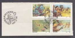 Ciskei, 1987 Filklore Set Of 4 On Fragment KEISKAMMAHOEK 1987 - 11- 06 Dpecial Cancel - Ciskei