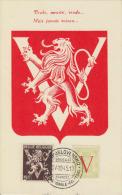 Carte-Maximum BELGIQUE N°Yvert 674 + 670 / Lion Héraldique - 1934-1951