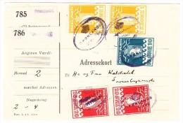 GRÖNLAND - R-Paketkarte Für 2 Pakete Mit Senkrechtes Paar 1 Krone + 20 Ore Und 1 X 10 Ore Alle Thiele Druck. Mit Attest - Colis Postaux