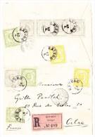 Montenegro - R-Brief Von Cetinje 22-6-1896 Nach Calais - Auf 3 Seiten Geöffnet - Montenegro