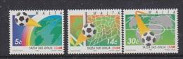 Malta 1994 Football World Cup USA  3v ** Mnh (WC024B) - World Cup