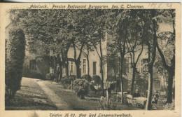 "Bad Langenschwalbach V.1930 Pension Restaurant ""Burggarten""-Adolfseck,Bes. C. Thoermer  (1096-N) - Wiesbaden"