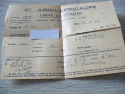 Cie Aero/Africaine/Ligne du Hoggar/Titre de transport/Nice/1949.