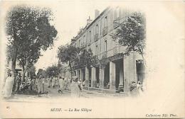 ALGERIE 1284  CPA  SETIF     -    La Rue Sillèguer   Animation      Belle Carte - Sétif