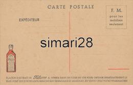 CARTE POSTALE FRANCHISE MILITAIRE - FLACON D'EXTRAIT DE FRILEUSE. A BASE D'UVARIA DE MADAGASCAR - Marcophilie (Lettres)