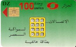 TARJETA DE ARGELIA DE 100 UNITES COLOR VERDE - Argelia