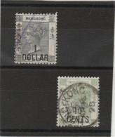 Hohg -kong _surchargé _1dollar - 10c/1891 - Hong Kong (...-1997)