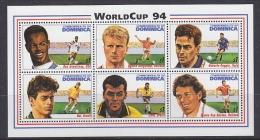 Dominica 1994 Football World Cup USA 6v In M/s  ** Mnh (WC026B - 1994 – États-Unis