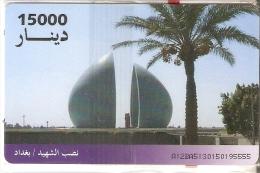 TARJETA DE IRAK DE 15000 DINARS DE UN MONUMENTO  (NUEVA-MINT) - Iraq