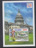 Uganda 1994 World Cup USA Football M/s (R.F.K. Stadium Washington DC) M/s ** Mnh (WC027B) - World Cup