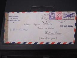 ETATS UNIS-Enveloppe De San Juan Pour La Martinique En 1943 Avec Censure  A Voir LOT P5253 - Puerto Rico