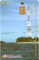 TARJETA DE MALDIVES DE RF30 DE UNA ANTENA DE TELECOMUNICACIONES (335MLDG) - Maldivas
