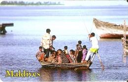 TARJETA DE MALDIVES DE RF50 DE UNA EMBARCACION - Maldivas