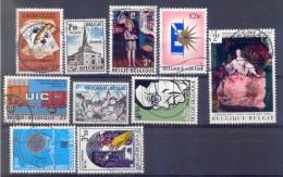 Belgie - 1972 - OBP  - 1625/26+1636/41+1650+1656 - Gestempeld - Belgien