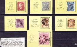 Peru 1869/70 Lot Von 7 Marken Aus GB Im Peru Verwendet  6 X Callao Und 1 Islay - Pérou