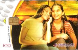 TARJETA DE MALDIVES DE RF30 DE 2 CHICAS  (2MLDG) MUJER-WOMAN - Maldivas