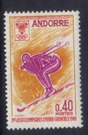 OL-E7 -  ANDORRA FRANCESE 1968 - Olimpiadi Invernali  ***  MNH . Complete Set - Inverno1968: Grenoble