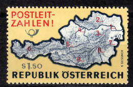 ÖSTERREICH 1966 ** Einführung Der Postleitzahlen - MNH - Post