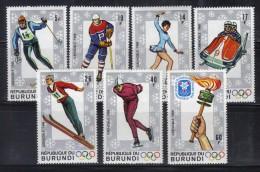 OL-E10 - BURUNDI - 1968 - JO D'HIVERS - GRENOBLE - N° 260/266  ***  MNH . Complete Set - Inverno1968: Grenoble