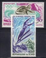 OL-E15 - TCHAD - N° PA 44 à 45 Grenoble  ***  MNH . Complete Set - Inverno1968: Grenoble
