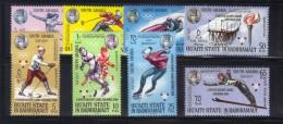 OL-E18 -  Quaiti State In Hadhramaut Mi.123-30b  (olympic Games) ***  MNH . Complete Set - Inverno1968: Grenoble