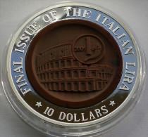NAURU 10 $ 2002 FINAL ISSUE OF THE ITALIAN LIRA ROMA COLLOSEUM - Nauru