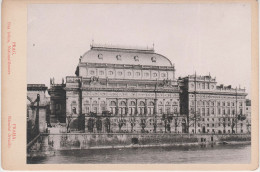 CDV Foto ? Kabinettfoto ? Hartpappe Prag Praha Böhmische Nationaltheater Narodni Divadlo Tschechien Ceska Cesky Tchequie - Fotos
