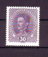 Austria/�sterreich 1917 Kopfbild Kaiser Karls I.  ANK:224 Komplett  MNH/**/Postfrisch