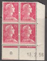 N° 1011 - X X - Daté 13/02/56 - 1950-1959
