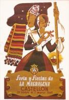 PP754 - POSTAL - FERIA Y FIESTAS  DE LA MAGDALENA 1948 - CASTELLON - EDITA JUNTA CENTRAL FESTEJOS DE LA MAGDALEN1 - Castellón