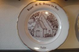 * Zulte (Waregem - Oost Vlaanderen) * 2 Unieke Borden Magvam Porselein Van ZULTE, TOP, Rare - Zulte