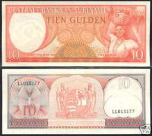 * SURINAME - 10 GULDEN 1963 - UNC P 121 - Surinam