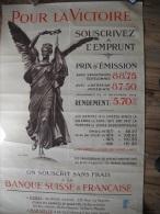AFFICHE  EMPRUNT  POUR LA VICTOIRE 1916  D APRES  CRAUK 120 X 80 cm