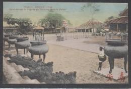 9621-ANNAM(VIET-NAM)-HUE´-COUR DEVANT LA PAGODE DE GIA-LONG DANS LE PALAIS-FP - Vietnam