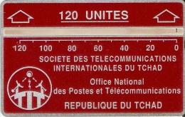 TARJETA DE TCHAD DE 120 UNITES  (611C)