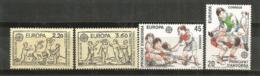 ANDORRA / ANDORRE. Europa 1989. Les Jeux D´enfants (saute-mouton,le Mouchoir,etc) 4 T-p Neufs ** - Games