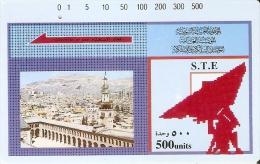 TARJETA DE SIRIA DE 500 UNITS DE UNA CIUDAD (SATELITE-SATELLITE) - Siria