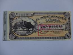 BILLET ESPAGNE - REPRODUCTION - GUERRE CIVILE - EMISSION LOCALE - DENIA - 1 PESETA - 1936 - UGT/CNT - Espagne