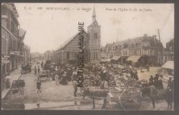 62 - BERCK PLAGE--Le Marché--Place De L´Eglise N D Des Sables--attelages--animé-- - Berck
