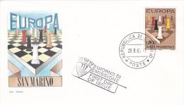 San Marino 1965 Chess FDC - FDC