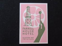 ISLAND HOTEL MOTEL INN BLUE HAVEN TRINIDAD TOBAGO WEST INDIES MINI STICKER DECAL LUGGAGE LABEL ETIQUETTE KOFFERAUFKLEBER - Hotel Labels